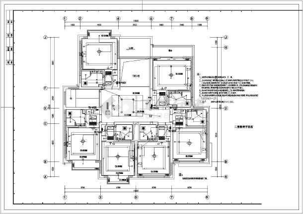 某地区某局接待室十字竣工CADv十字电气图纸的图纸上机械图片