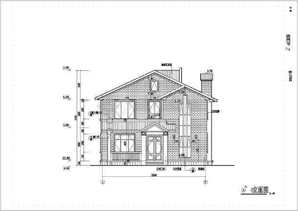 某高档二层园别墅全套建筑设计施工图楼梯别墅护栏图片