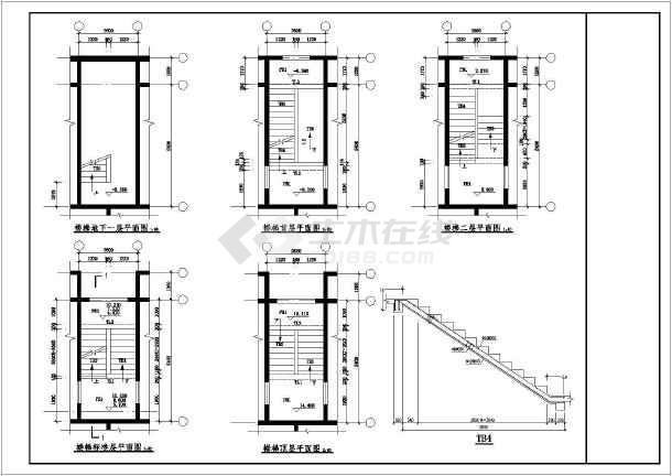 某地区多层住宅楼梯结构整套配筋详图