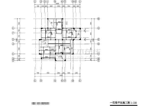 大方三层砖混新农村自建别墅建筑设计施工图含结构图
