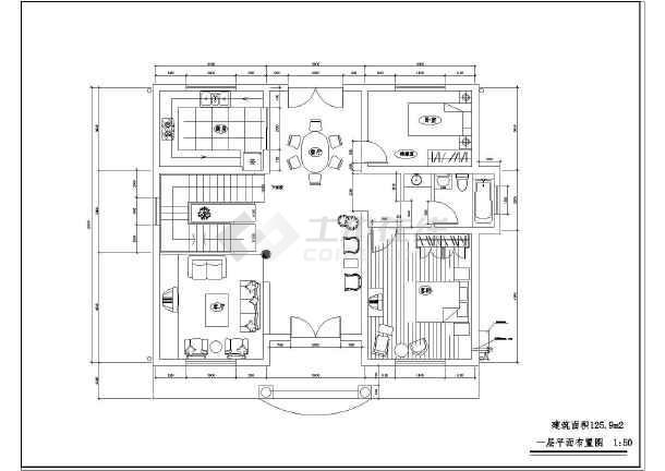 农村两层小别墅平面图