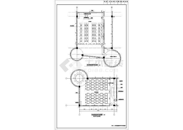 小学教学楼各教室完整平面布置设计图纸