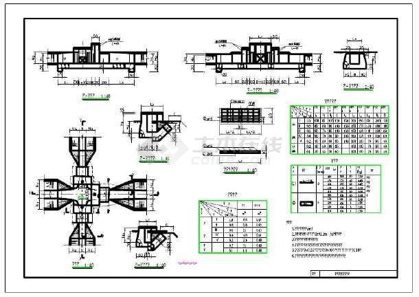 农村小型水利工程分水闸设计图_cad图纸下载拼图纸豆豆大全tube图片