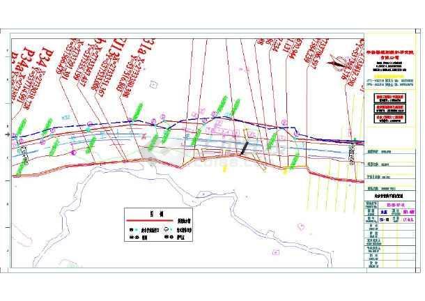某地小型电厂污水管改造cad施工图-图3