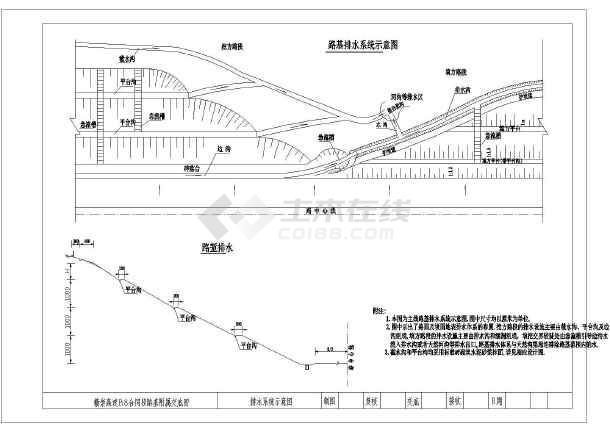 某地区道路排水沟设计cad施工方案图-图2