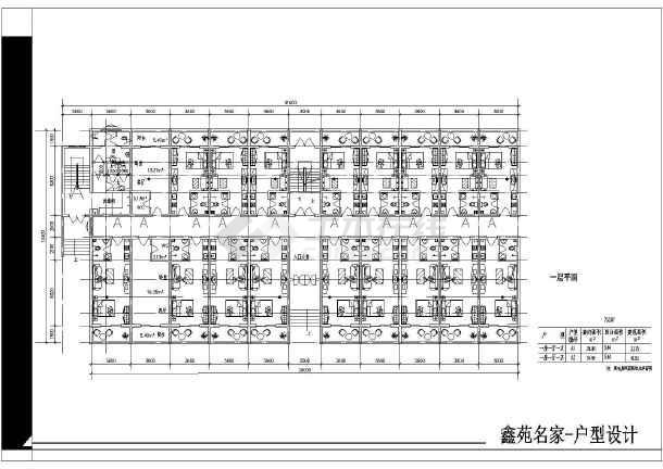 湖北省某城镇小区全部户型CAD平面图