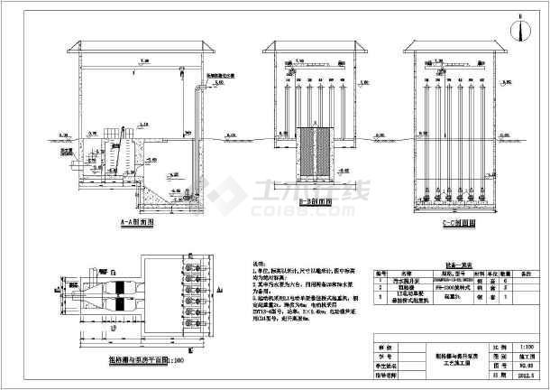 粗格栅与提升泵房-图1