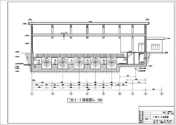 大型水电站厂房cad施工设计图纸