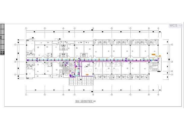 某七层员工宿舍楼给排水设计施工图-图1