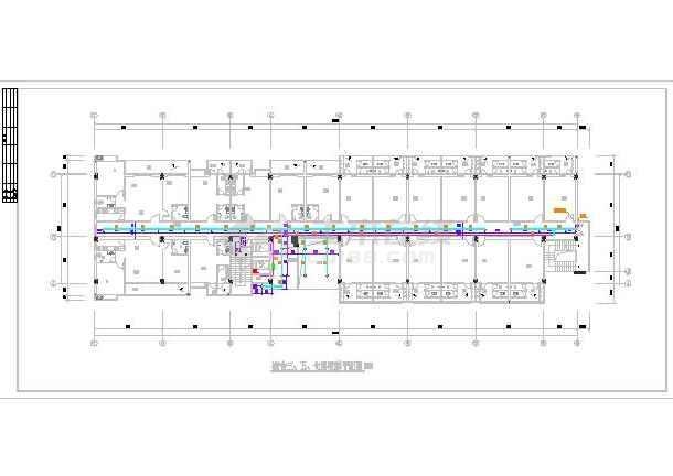 某七层员工宿舍楼给排水设计施工图-图3