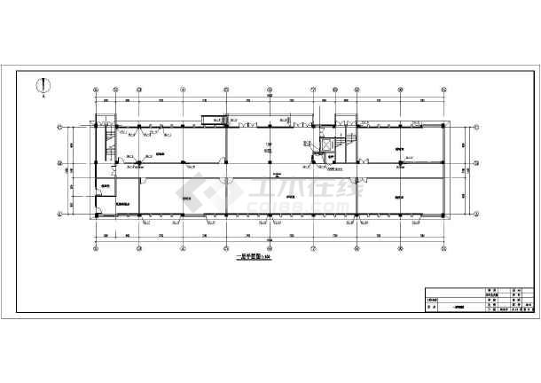 中学科研信息教学楼给排水施工图纸-图1