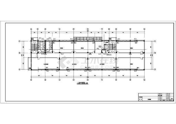 中学科研信息教学楼给排水施工图纸-图2