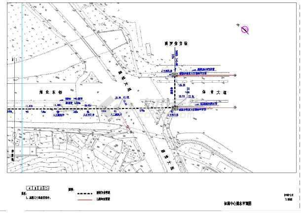 市政截污管网建设工程全套设计cad图纸-图3