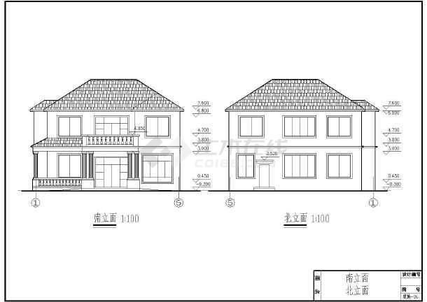 二层框架实用农村房屋建筑设计施工图