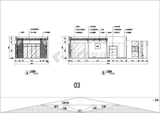 某地区豪华别墅一层装修设计施工图图片