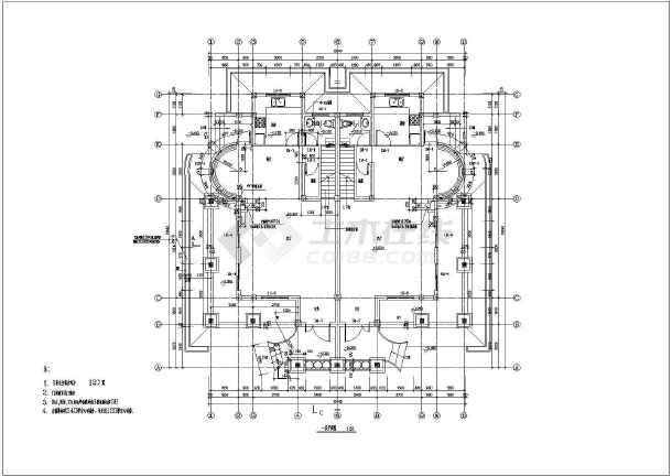 欧式风格三层双拼别墅建筑建筑设计图