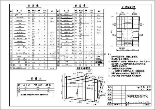 某地区设计院标记镇墩cad图纸配筋多种上做图纸图片