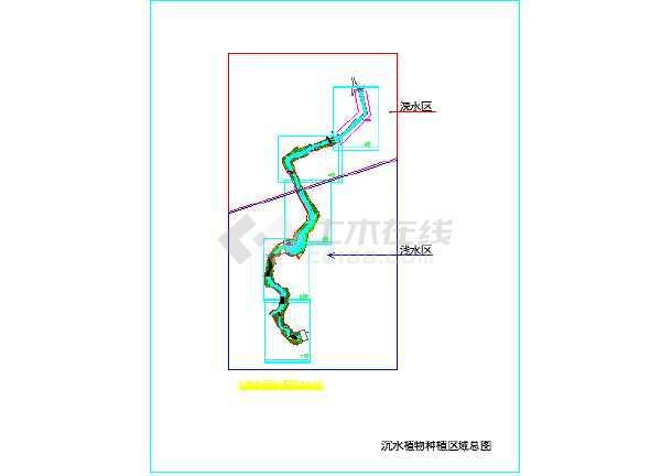 图纸小城市图纸流量修复设计图_cad河道下载pa生态图片