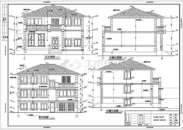 简洁实用二层带架空层二层半新农村自建房屋建筑设计图