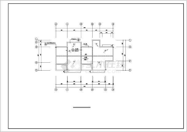 3户联排平屋顶自建房屋详细建筑设计图