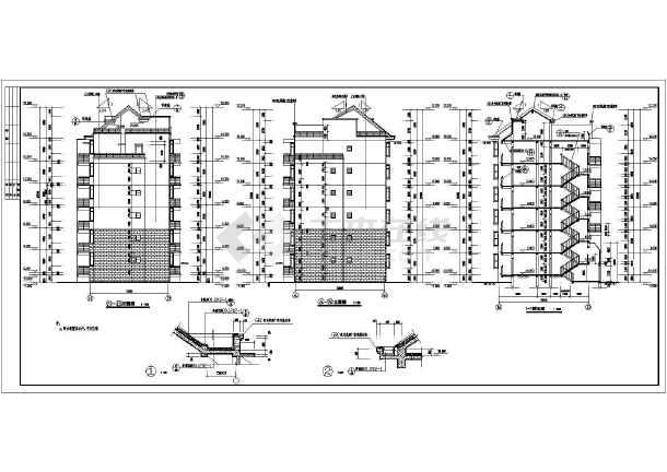 砖混结构六层单元式住宅建筑施工图
