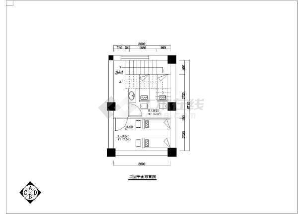 某地区美容院全套装修CAD设计图纸