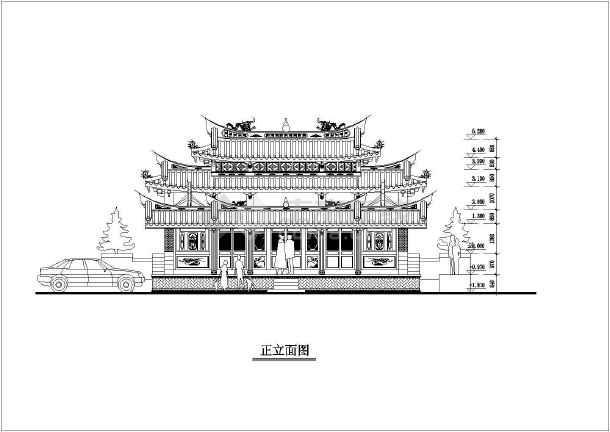 闽南古建筑设计平立面图纸(共2张)图片1