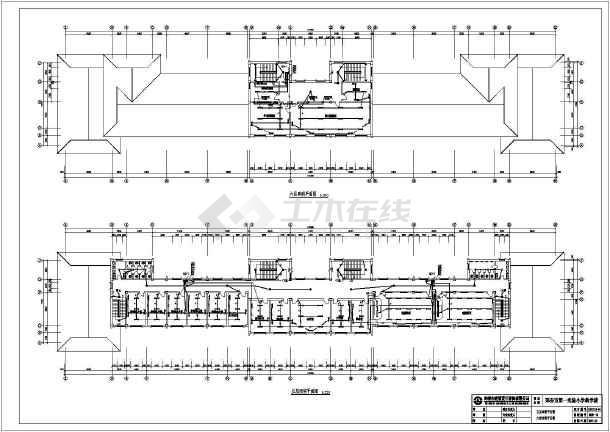 某地区第一实验小学教学楼电气cad设计图纸