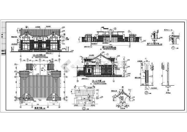 乡村二层双拼农村房屋详细建筑设计图