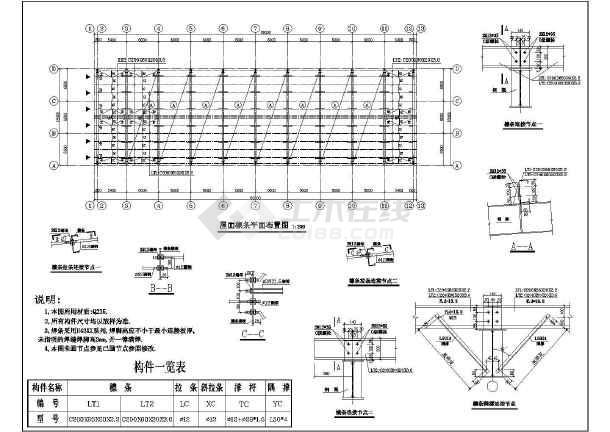 18米5吨吊车全钢建筑结构图纸