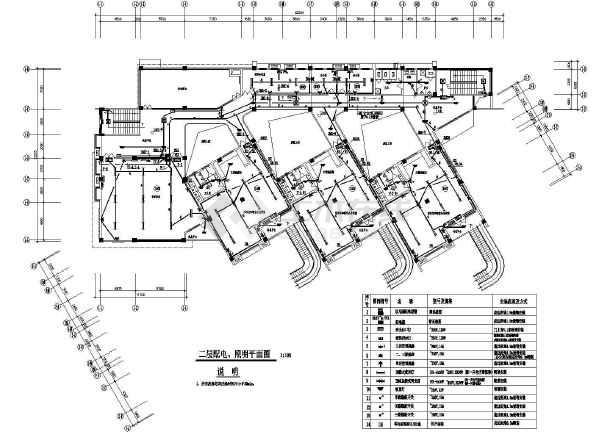 某地区新建规后幼儿园电施cad设计图纸