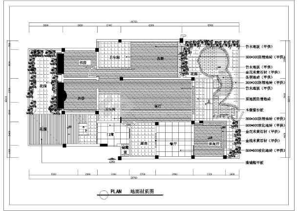 复式户型家装设计cad平面装修图