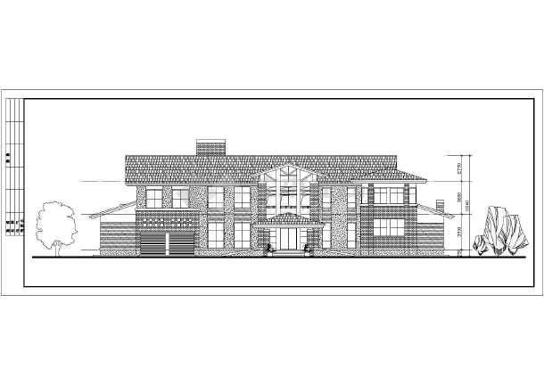 两层独立别墅建筑施工方案设计图纸