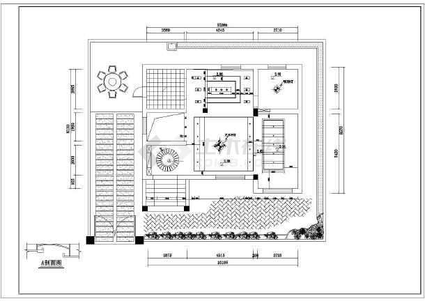 小型复式户型家居cad装修平面施工图