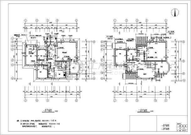 经典双层别墅全套建筑设计方案结构图