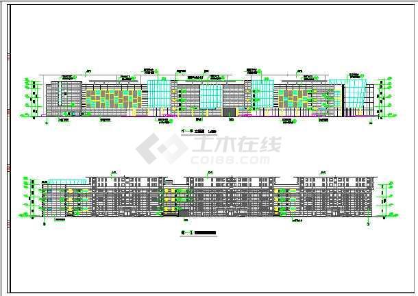 高层市中心商场框架结构建筑施工设计图