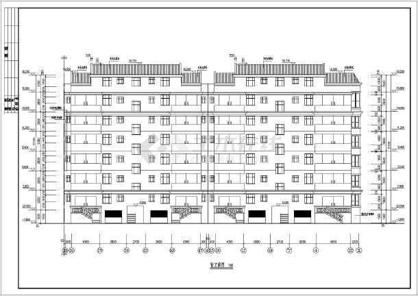 七层含储藏间住宅楼建筑设计方案图_cad图纸下载-土木