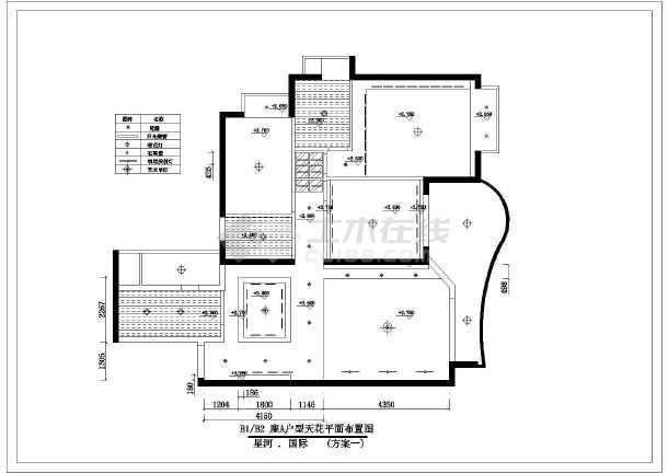 家庭室内装修全套cad设计施工图