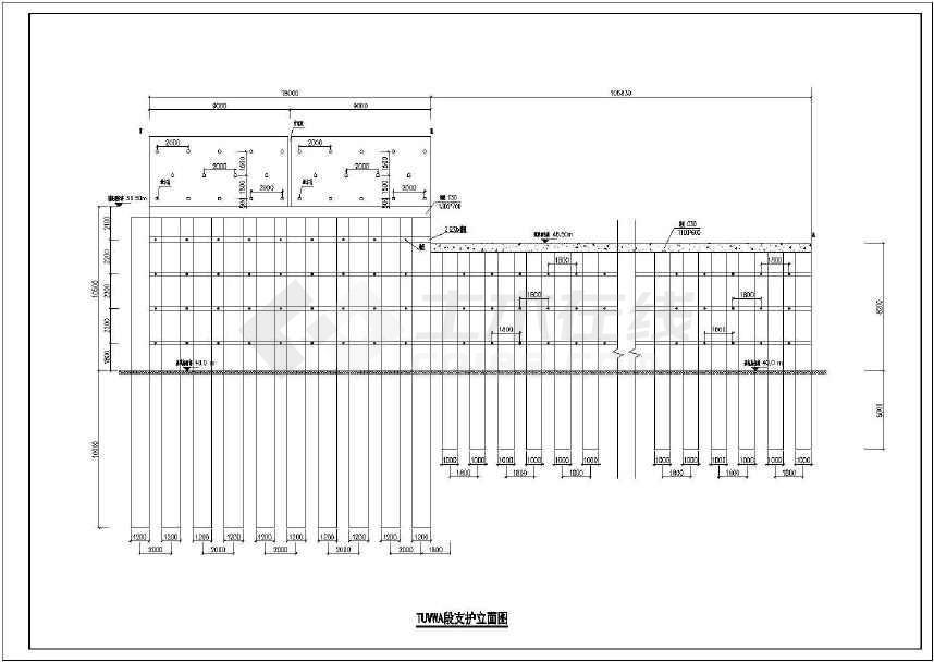 某文件桩加锚杆工程v文件cad设计图cad的护坡好看图片