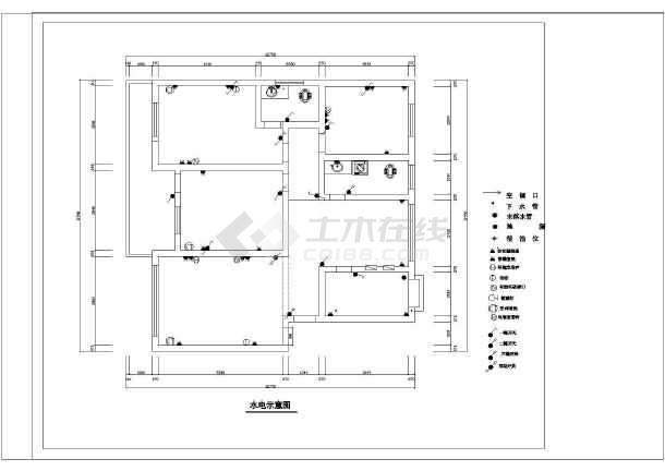 内装修设计方案cad平面图顶棚布置图