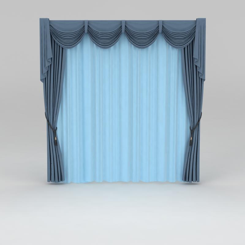 家具模型(家具3dmax模型)  地中海风格窗帘3d模型下载