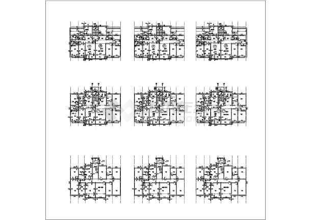 某新中式全套图纸建筑设计施工公寓钢结构米宽18,70的米长图纸图片