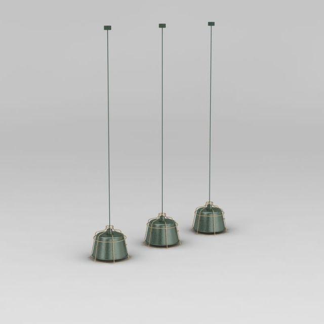 现代工业风小吊灯3D模型下载-图1