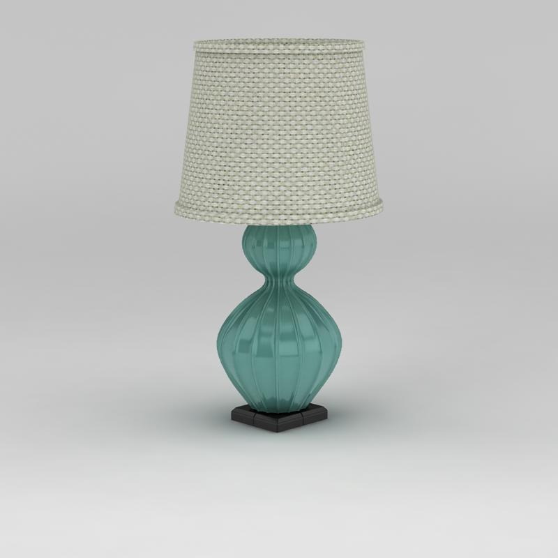 地中海风格台灯3D模型下载-图1