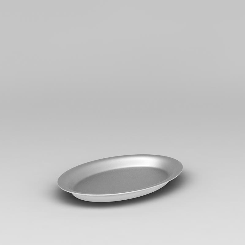 银色金属盘子3D模型下载-图3