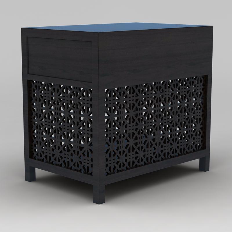 实木镂空雕花柜子3D模型下载-图3