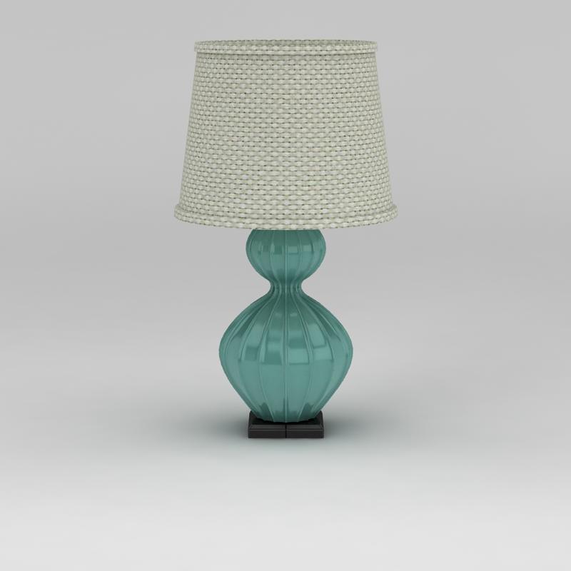 地中海风格台灯3D模型下载-图2