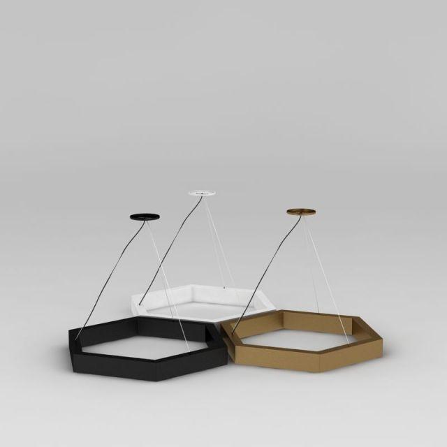 创意六角形吊灯3D模型下载-图2