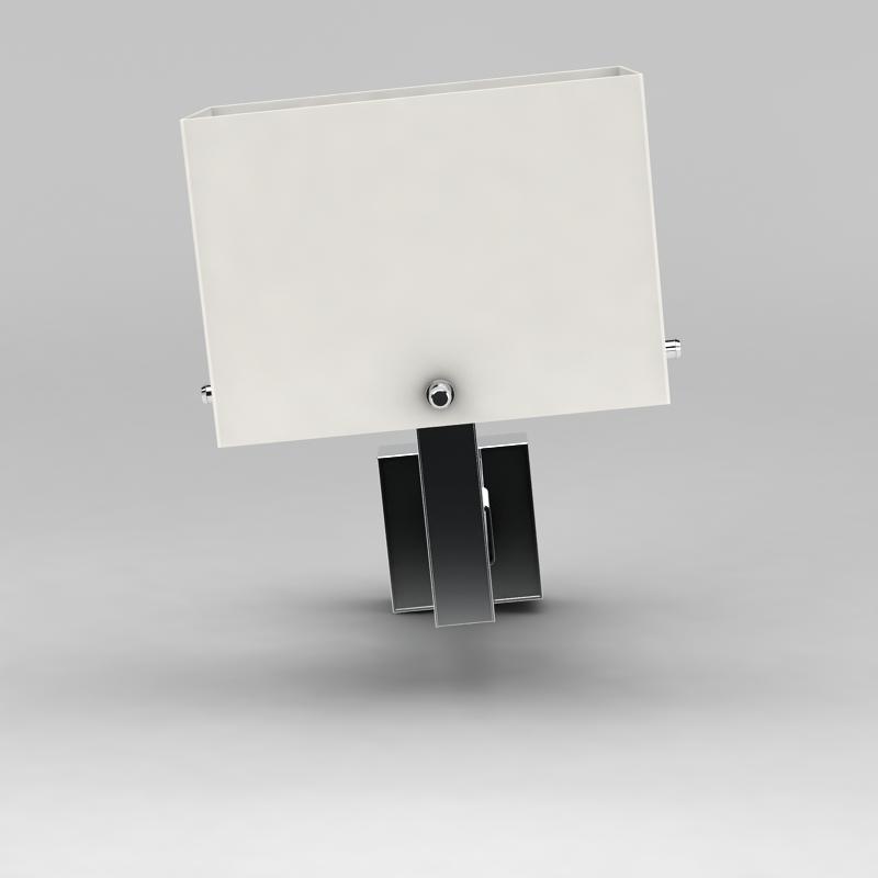 金属壁灯3D模型下载-图3