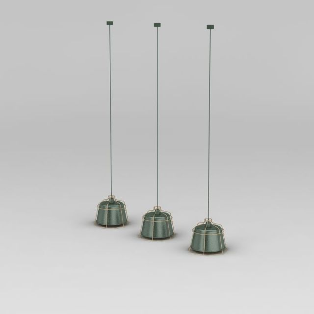 现代工业风小吊灯3D模型下载-图3